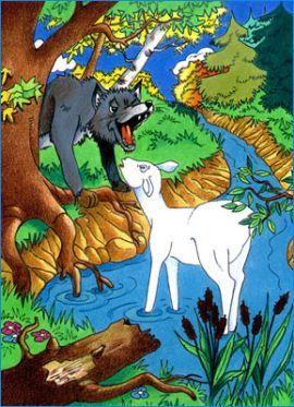 Le loup et l 39 agneau la mani re de pierre perret le - Dessin loup et agneau ...